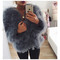 Hepburn - ostrich feather coat - smokey grey - olive & lile