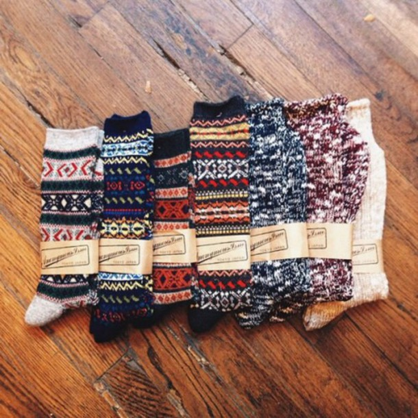 Socks Holiday Season Winter Outfits Cozy Wool Knitted Socks