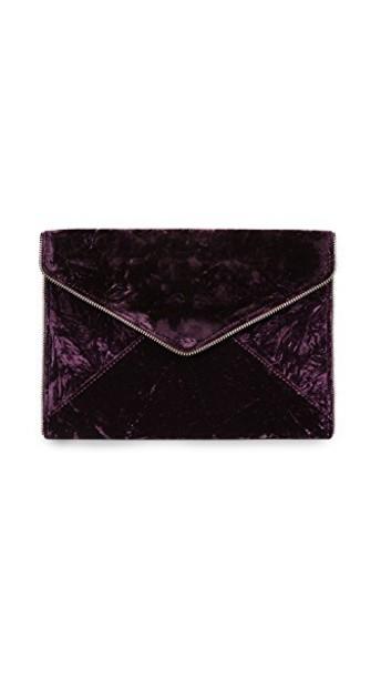 Rebecca Minkoff clutch velvet cherry dark bag