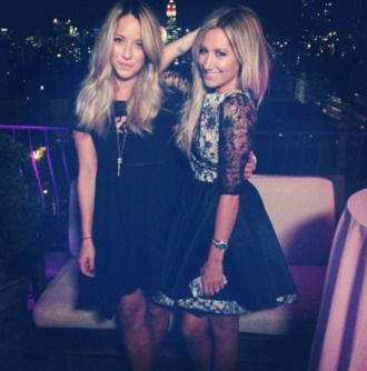 dress clothes dress.  black dress ashley tisdale black and white