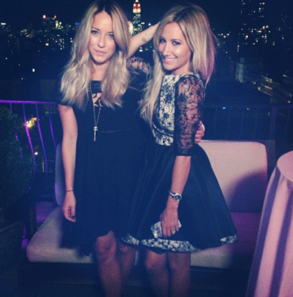 dress ashley tisdale clothes dress.  black dress black and white