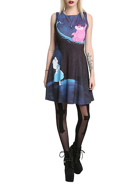 Disney alice in wonderland cheshire cat dress