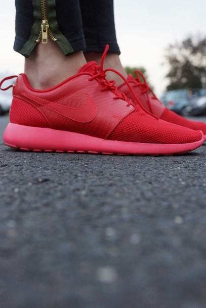 qnuzut Shoes: nike roshe run, nike air, nike red, roshe runs, nike, nike