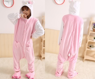 jumpsuit hello kitty onesies hello kitty kigurumi kigurumi kigurumi animal onesies kigurumi onesies