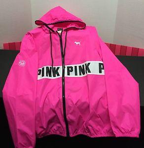 New&hot victorias secret pink full zip windbreaker hoodie size xs/s nwt