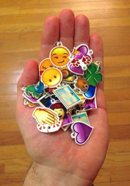 jewels emoji print charm