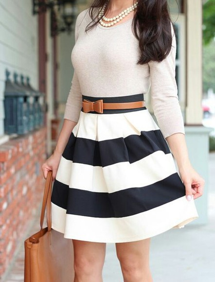 skirt striped highwaisted shorts