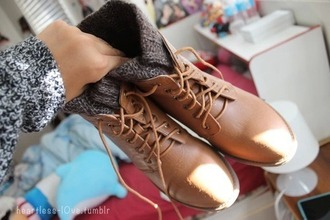 shoes brown combat boots winter boots brown platform boots
