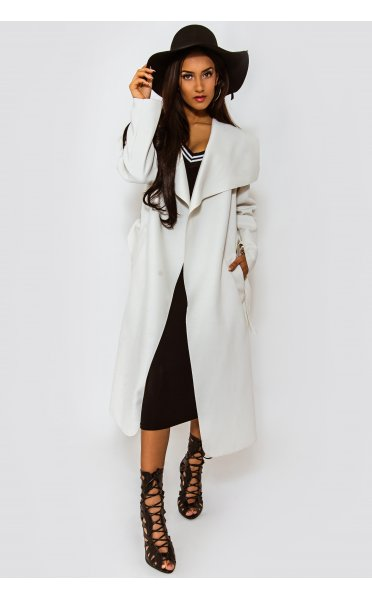 Khloe White Waterfall Coat - from The Fashion Bible UK