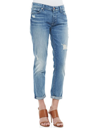 7 For All Mankind Josefina Super Light Destroyed Cuffed Jeans - Neiman Marcus