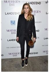 shoes,top,olivia palermo,blogger,coat,jeans,spring outfits,all black everything,blazer