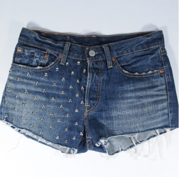 shorts cut off shorts denim shorts levi's levi's shorts custom shorts customized