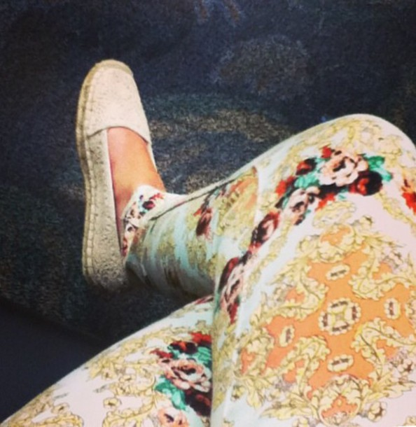 pants baroque white