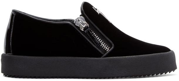 Giuseppe Zanotti sneakers black velvet shoes