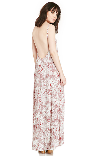 Dailylook: flynn skye scoop back maxi dress in wine xs