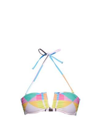 bikini bikini top bandeau bikini print swimwear