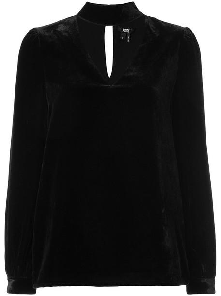 Paige blouse women black top