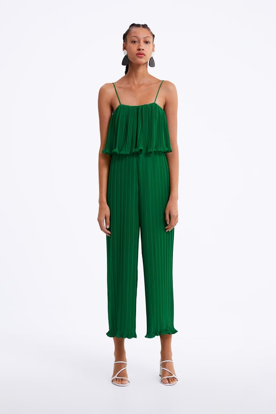 PLEATED JUMPSUIT WITH STRAPS