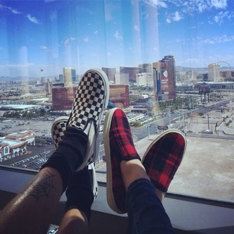 shoes eleanor calder slip-on vans tartan mens slip ons