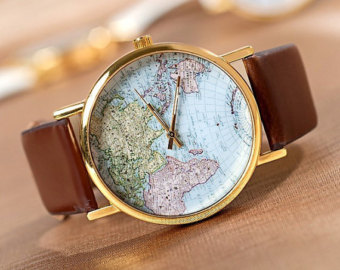 Popular items for world map watch on Etsy