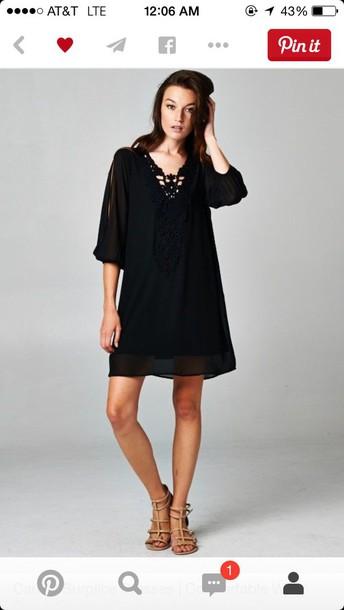 dress black shift dress