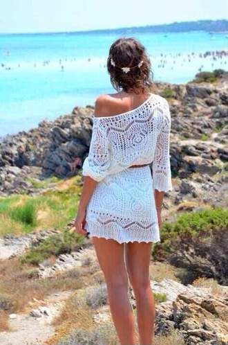 knit dress white dress crochet white lace lace dress white lace dress