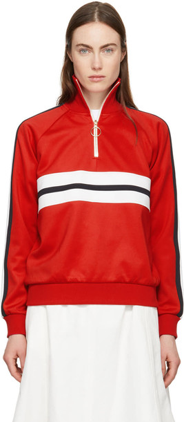 Harmony Red Sidonie Zip-up Sweater