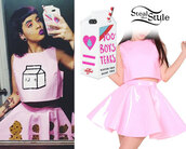 top,milk,melanie martinez,melanie,cookies,plastic,halter top,tumblr,kawaii,harajuku,soft grunge,grunge,pastel goth,japanese,tokyo,skirt,pink skirt,pink shirt,cute outfits,pink top