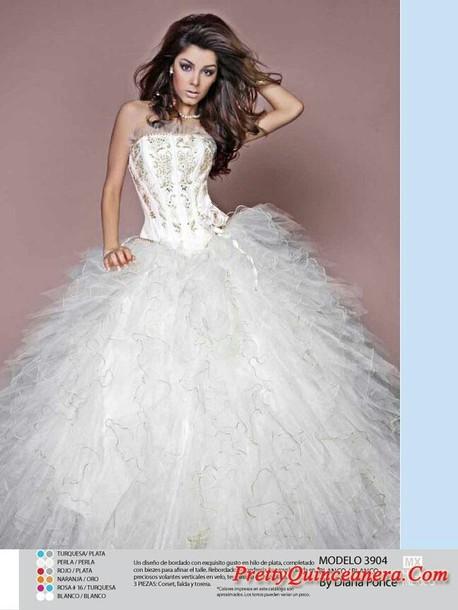 dress white quinceanera dresss