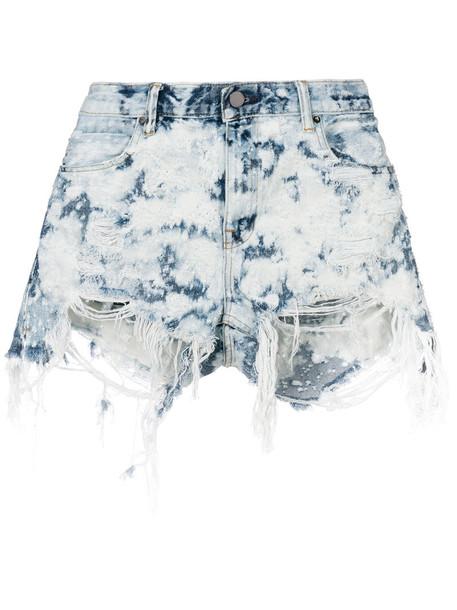 Alexander Wang shorts women cotton blue