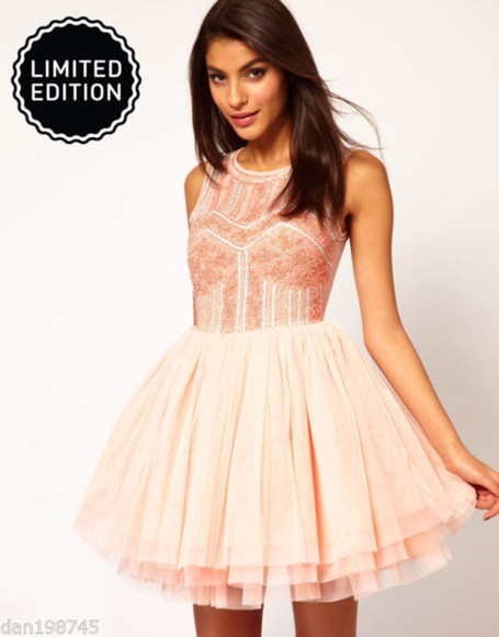embroidered dress prom dress 2014 prom dresses pink cute dress