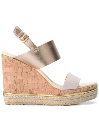 metallic women sandals wedge sandals leather nude suede shoes