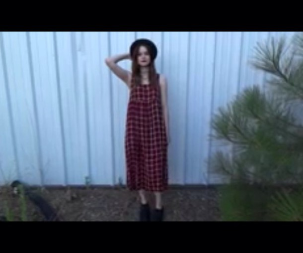 dress grunge alternative red and black plaid