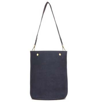 bag bucket bag suede blue