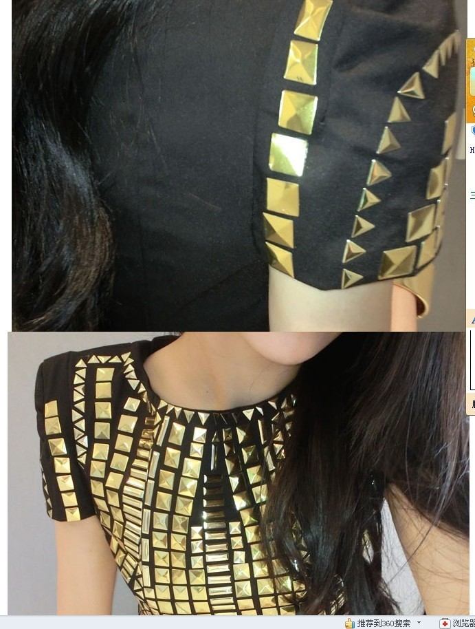 Gold studded bodycon  / cecebtq