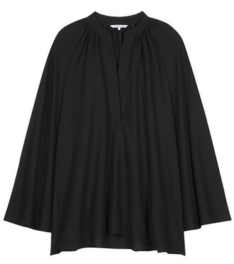 blouse oversized silk black top