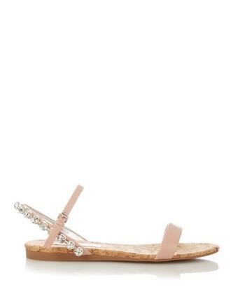 embellished sandals light pink light pink shoes
