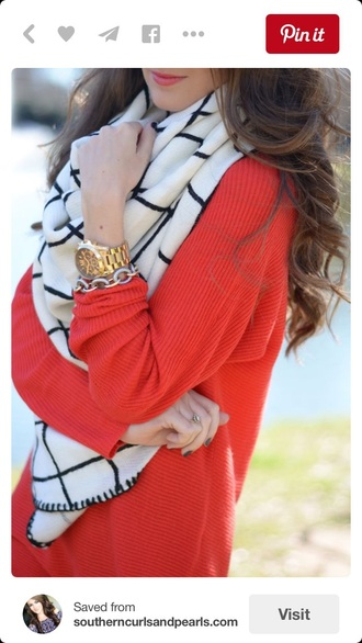 scarf fall outfits black and white accessories blouse