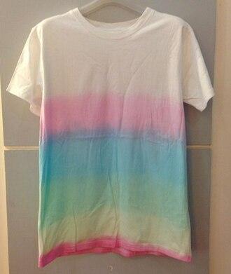 t-shirt rainbow t-shirt ombre