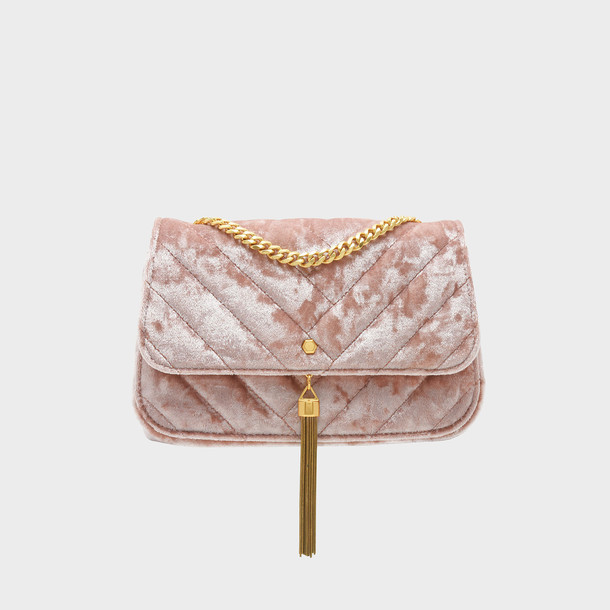 tassel bag shoulder bag pink