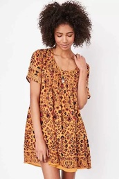 dress,yellow,floral