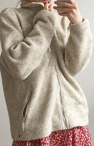 coat fleece coat pretty warm winter outfits