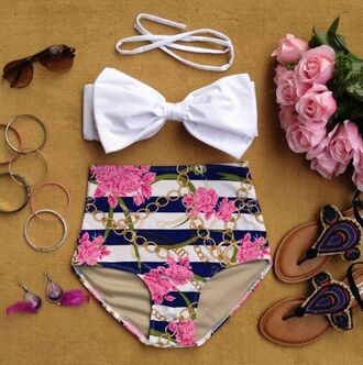 swimwear bathing suite summer bow bikini