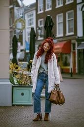 nothinglikefashion,blogger,coat,sweater,jeans,shoes,bag