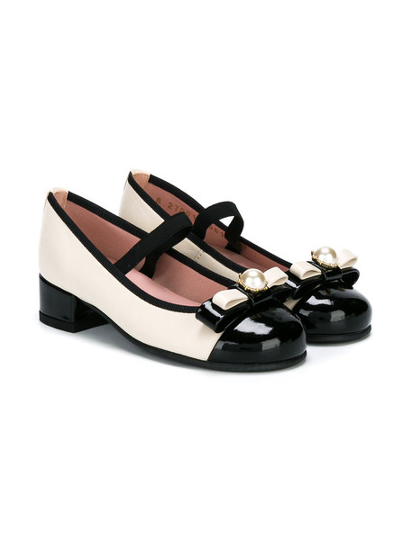 Pretty Ballerinas Kids leather nude shoes