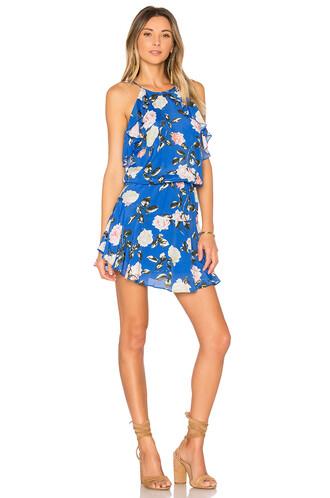 dress mini dress mini print blue