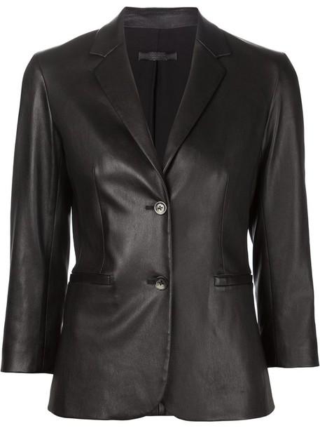 The Row blazer women spandex cotton black jacket