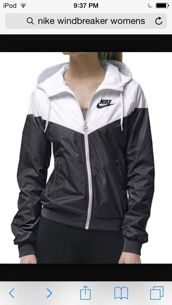 black and white nike jumper