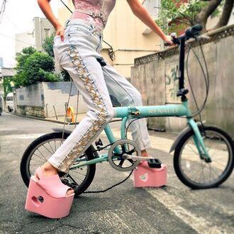 shoes zooji zooshoo pink shoes platform shoes platform sneakers sneakers y-r-u y-r-u shoes footwear streetstyle edgy yru