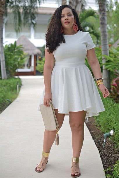 dress, trendsgal, white dress, short sleeve, short sleeve dress ...